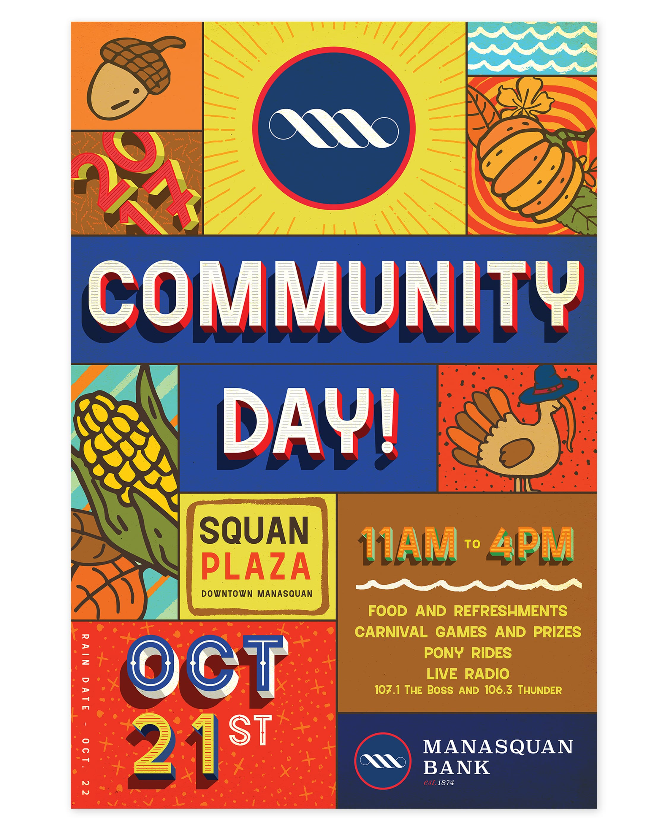 Manasquan Bank Community Day Poster