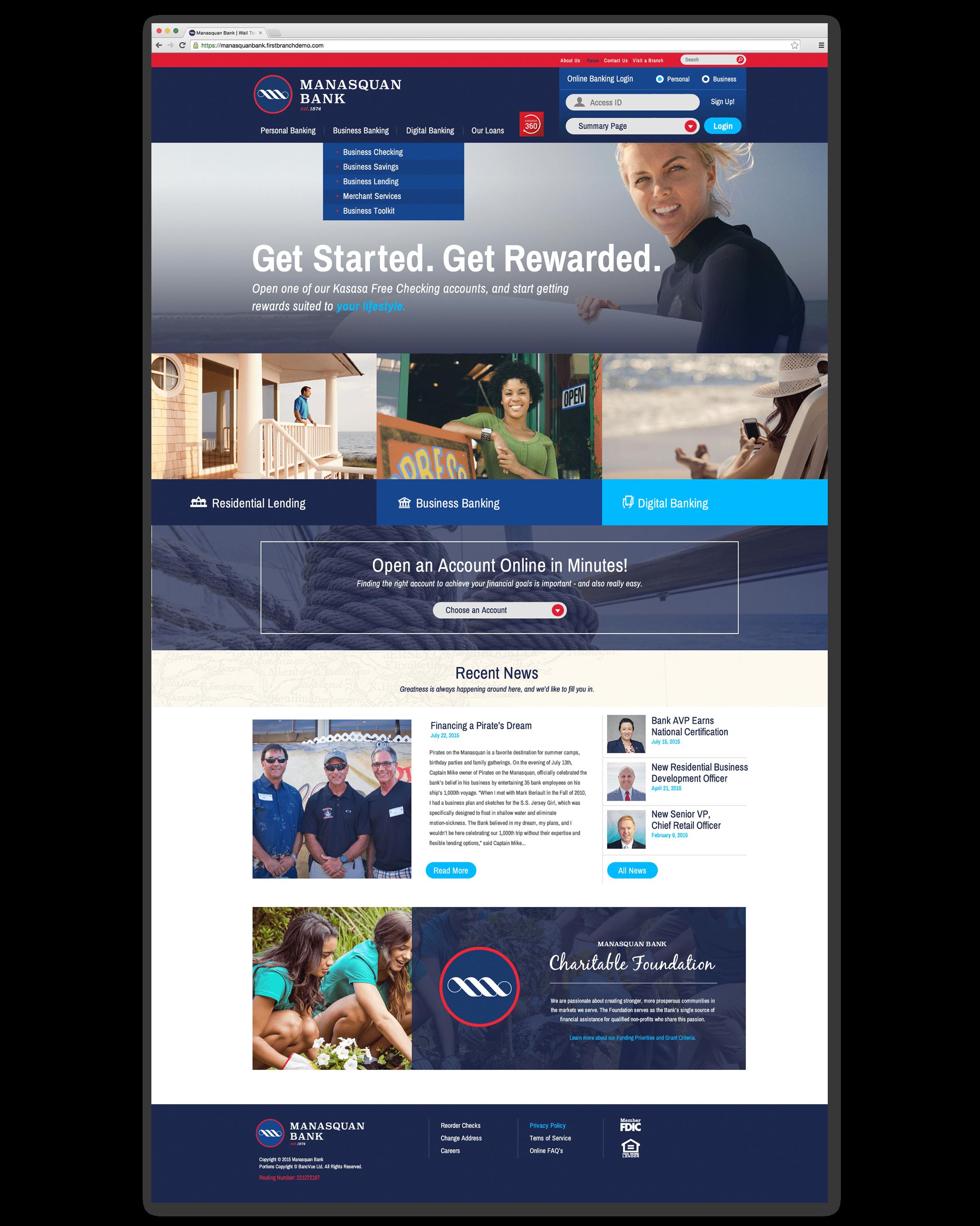 Manasquan Bank Website Design