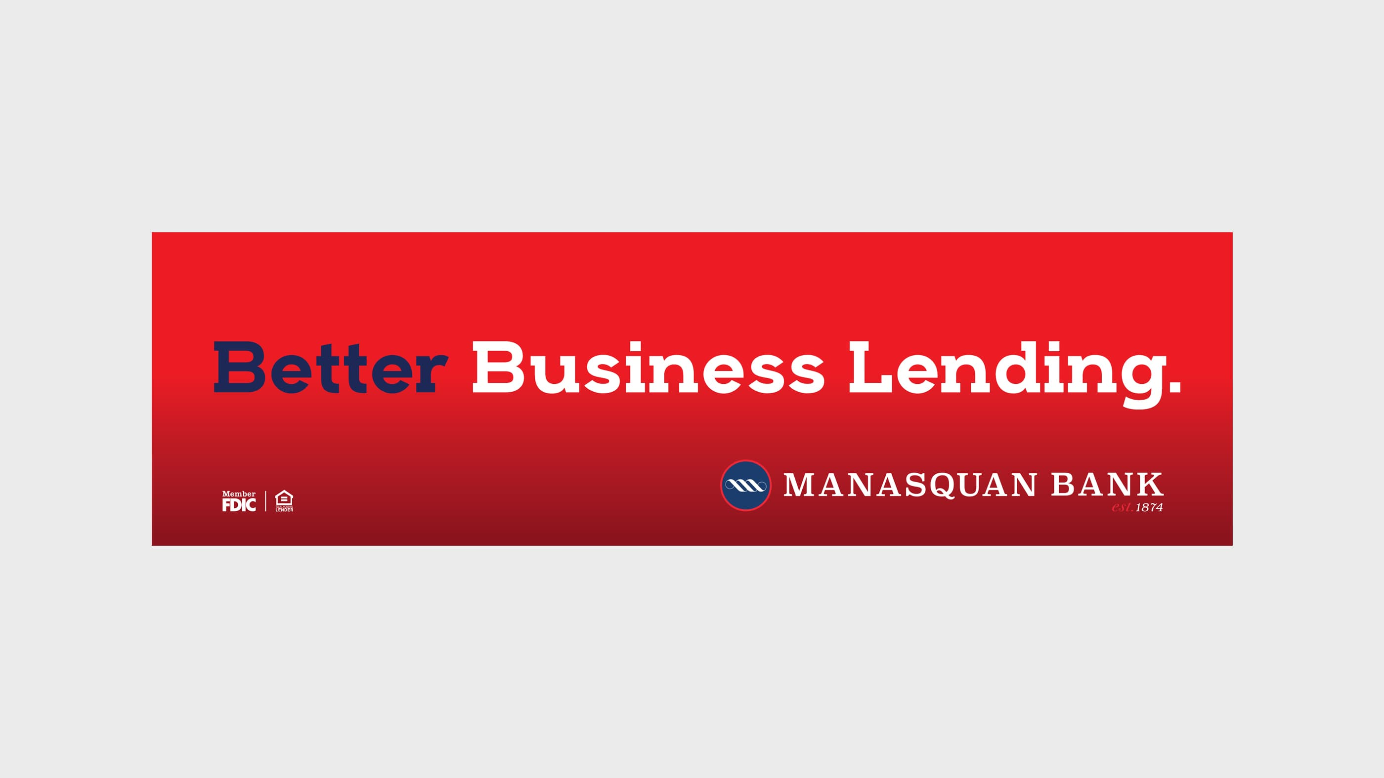 Manasquan Bank Billboard Better Business Lending