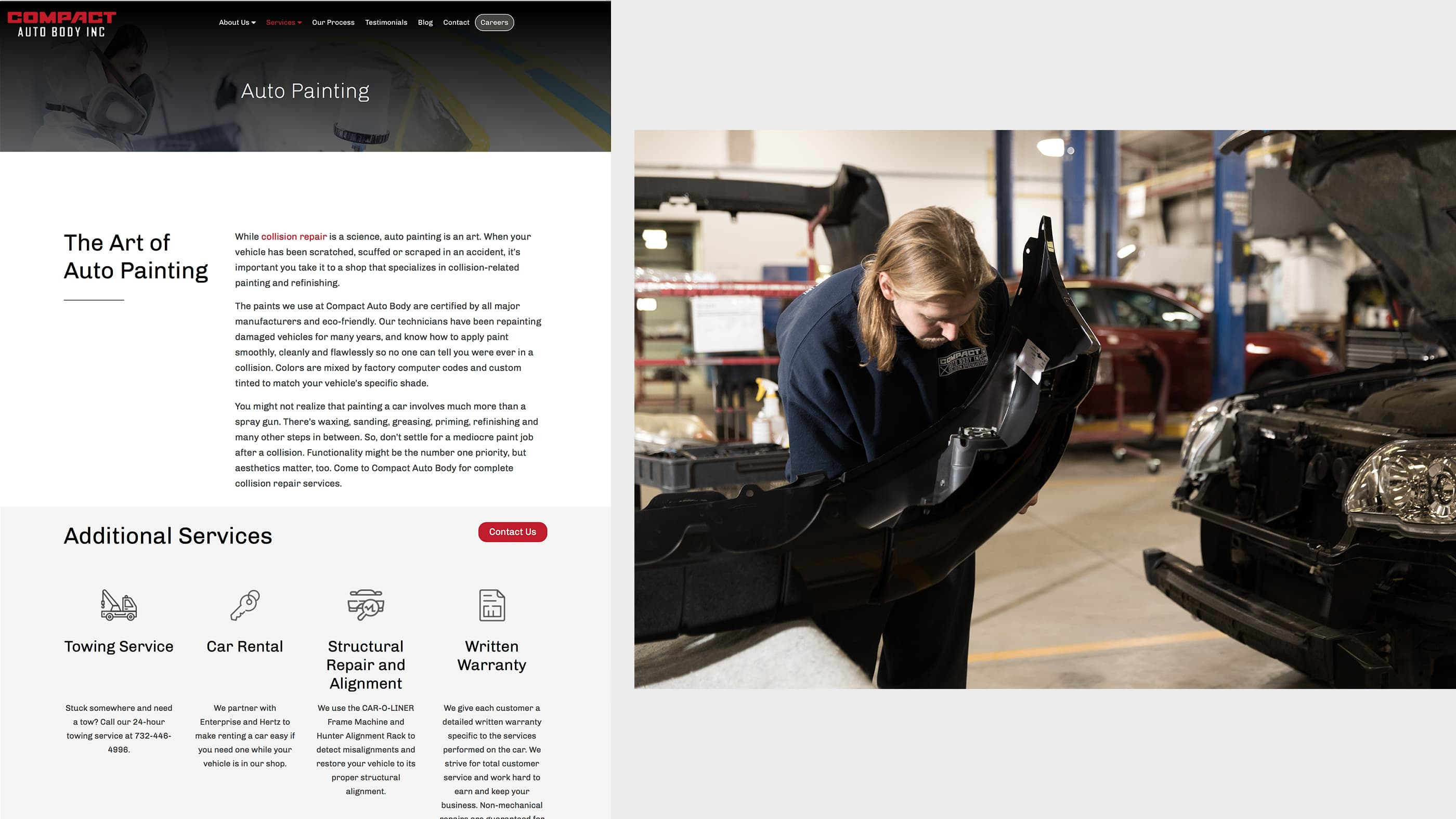 Compact Auto Body Web Design