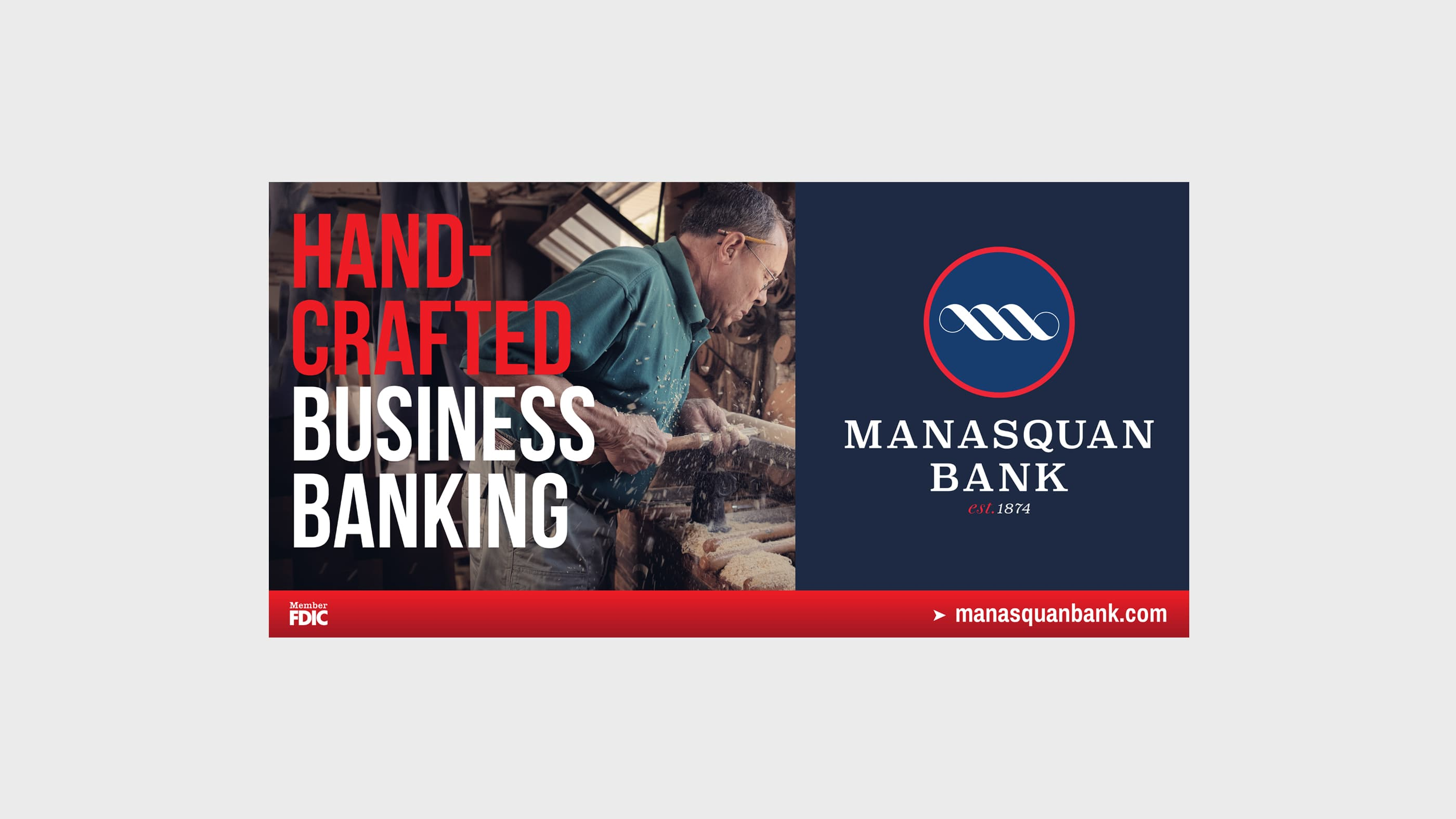 Manasquan Bank Billboard Handcrafted