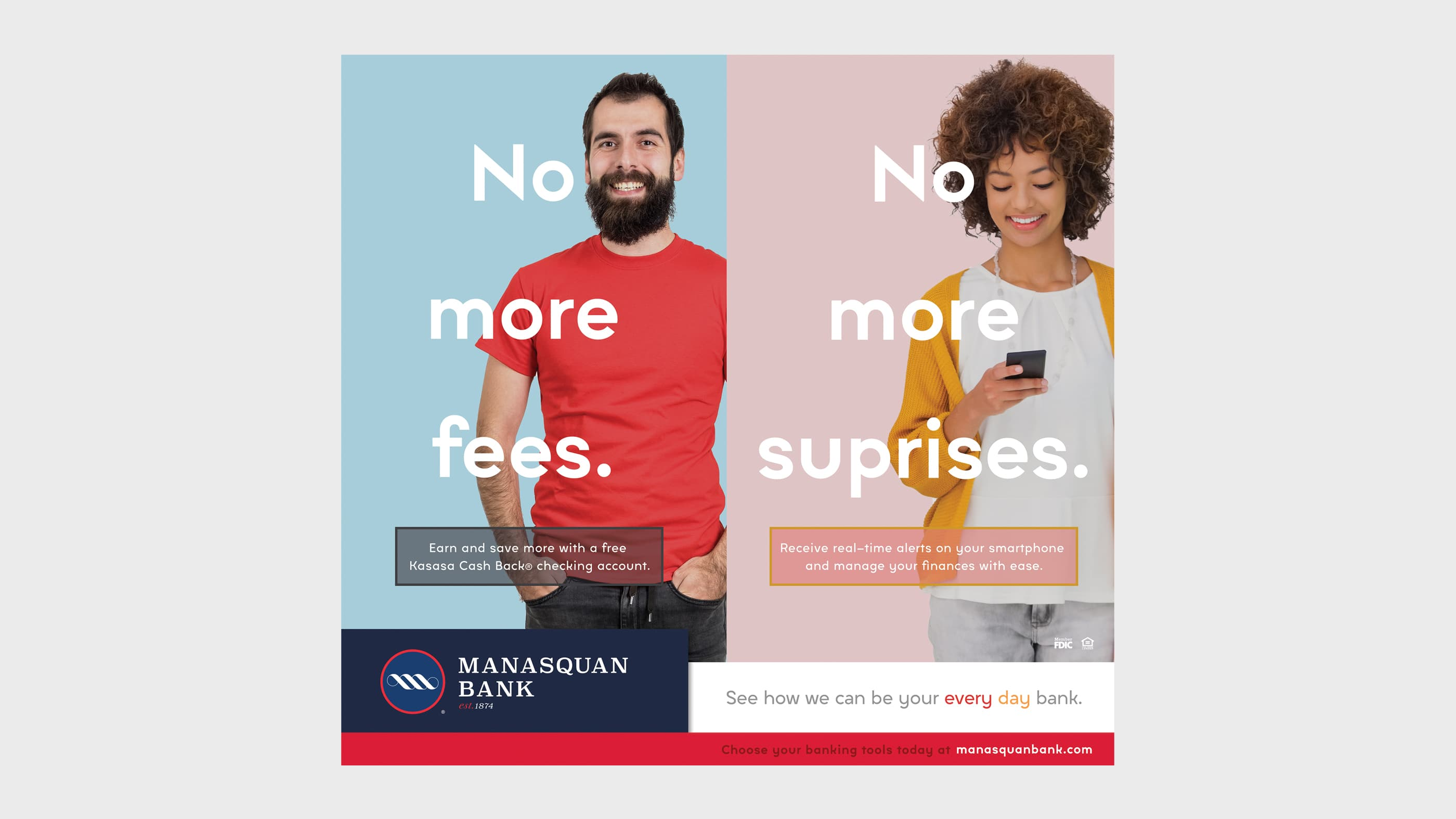 Manasquan Bank Cross Sell Print Advertising