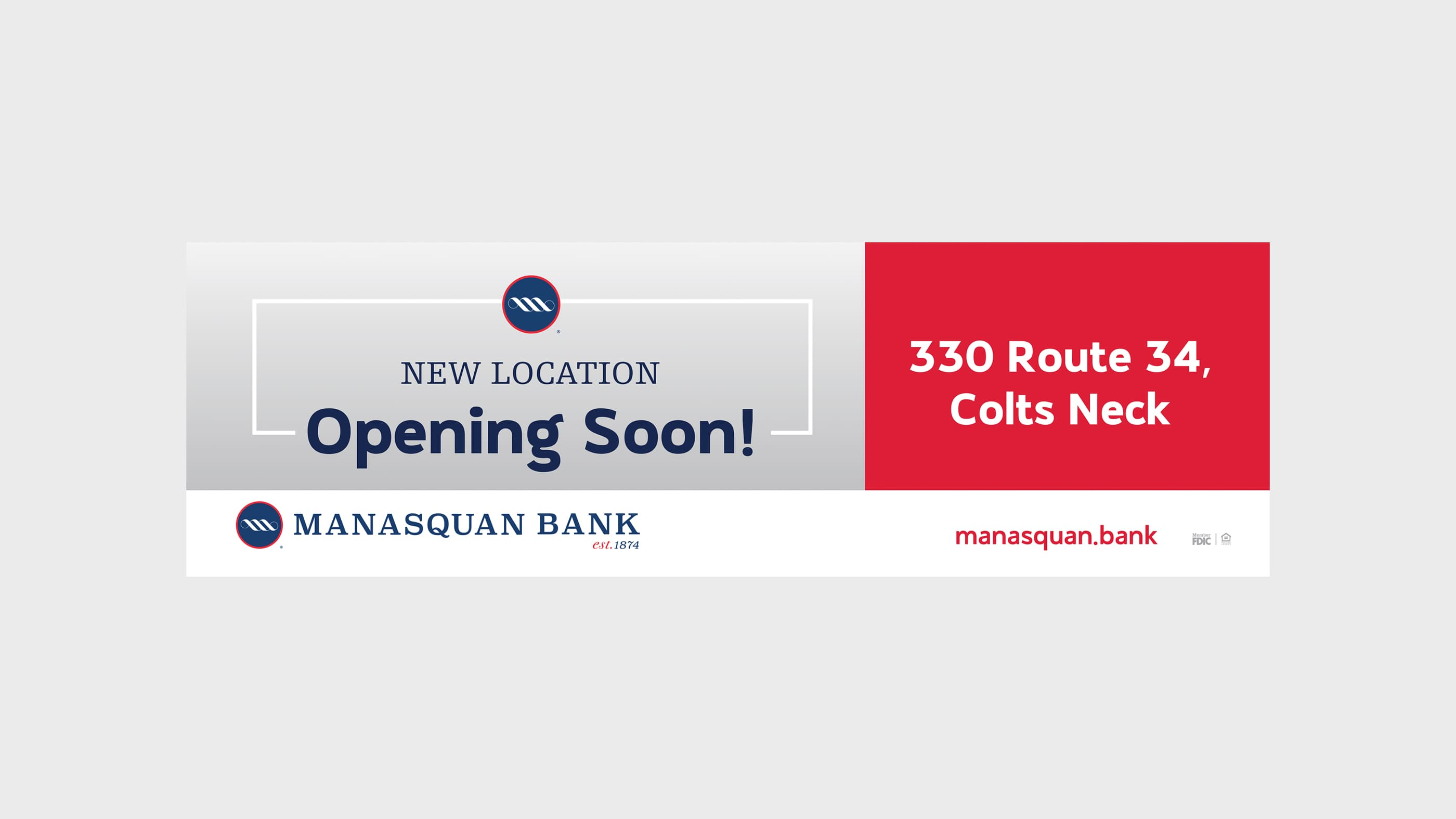 Manasquan Bank Billboard Opening Soon