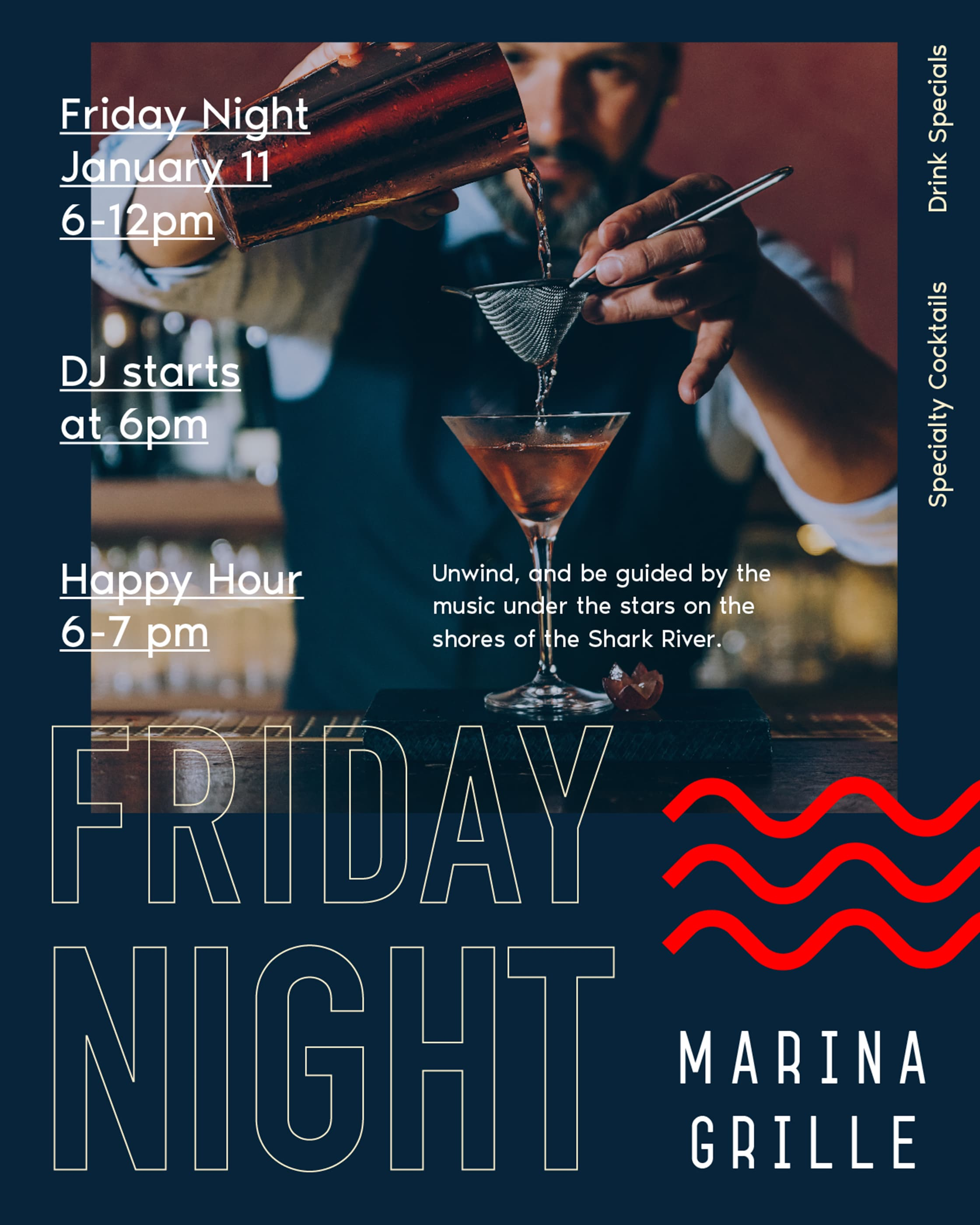 Marina Grille Nights Ad