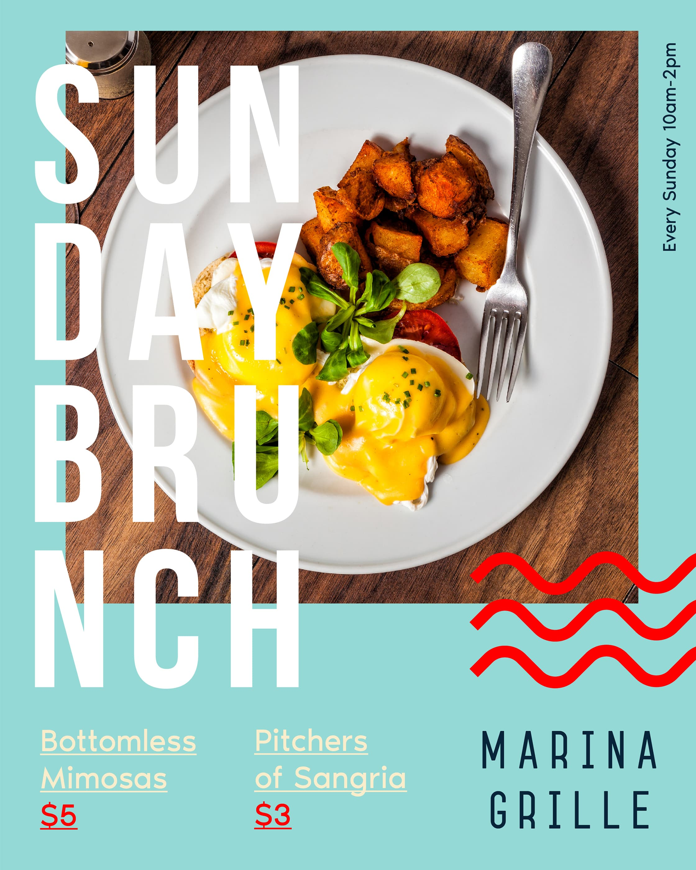 Marina Grille Sunday Brunch Ad
