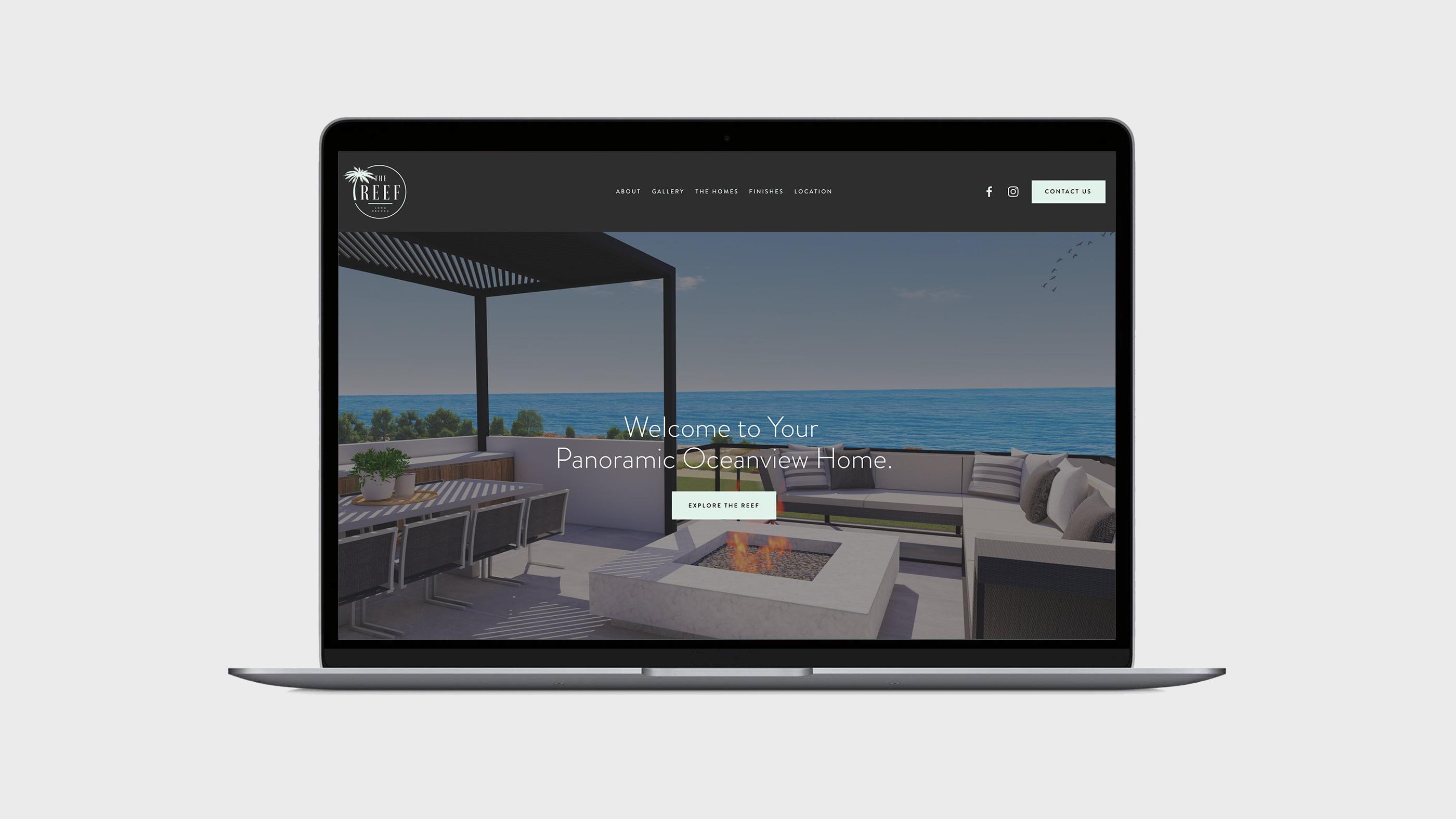 The Reef Website Design